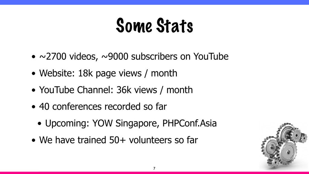 Some Stats • ~2700 videos, ~9000 subscribers on...