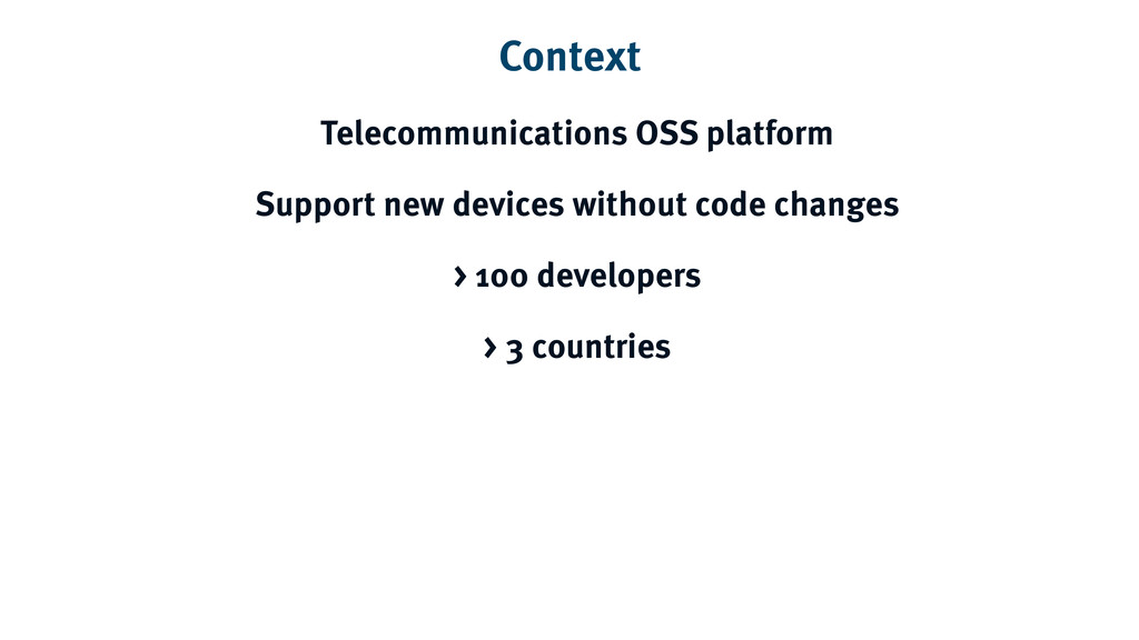 Context Telecommunications OSS platform Support...