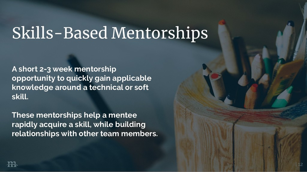 | 12 Skills-Based Mentorships A short 2-3 week ...