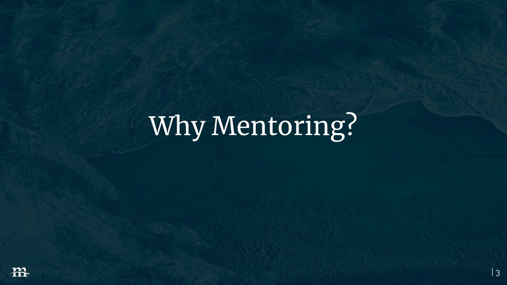 | 3 Why Mentoring?