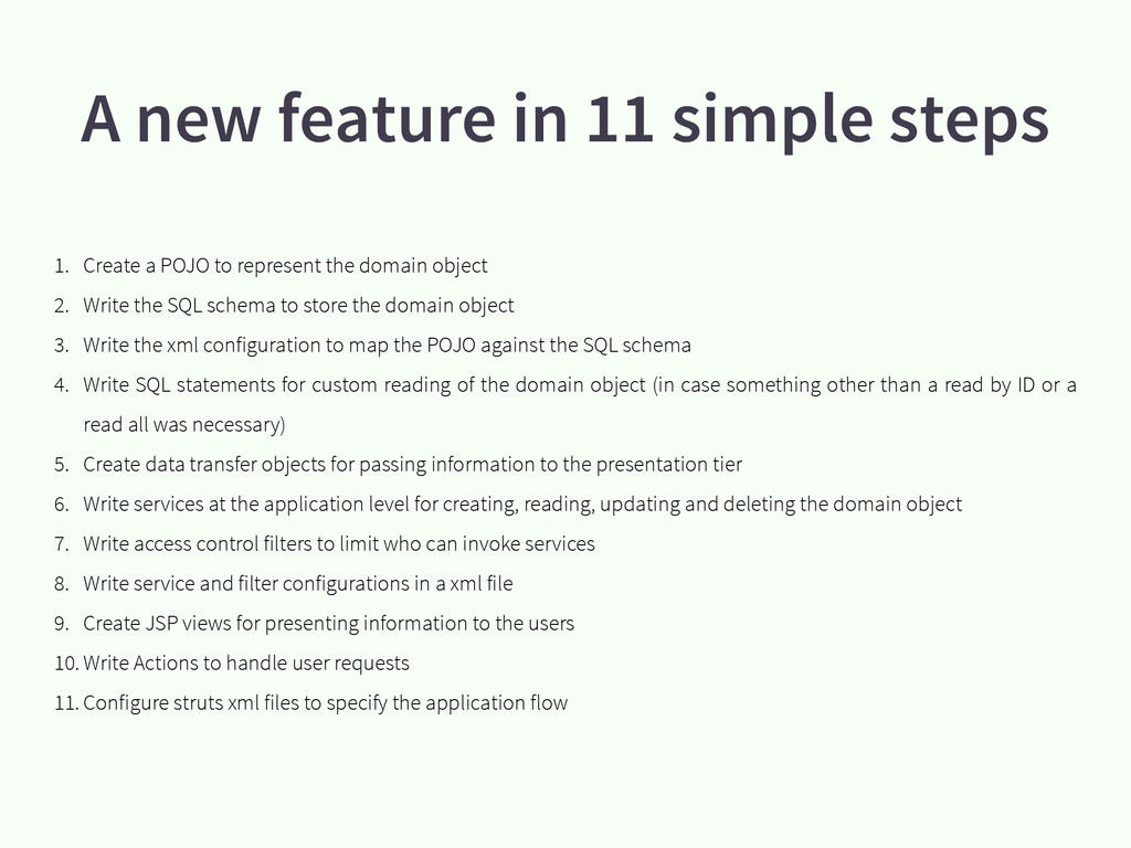 A new feature in 11 simple steps 1. Create a PO...