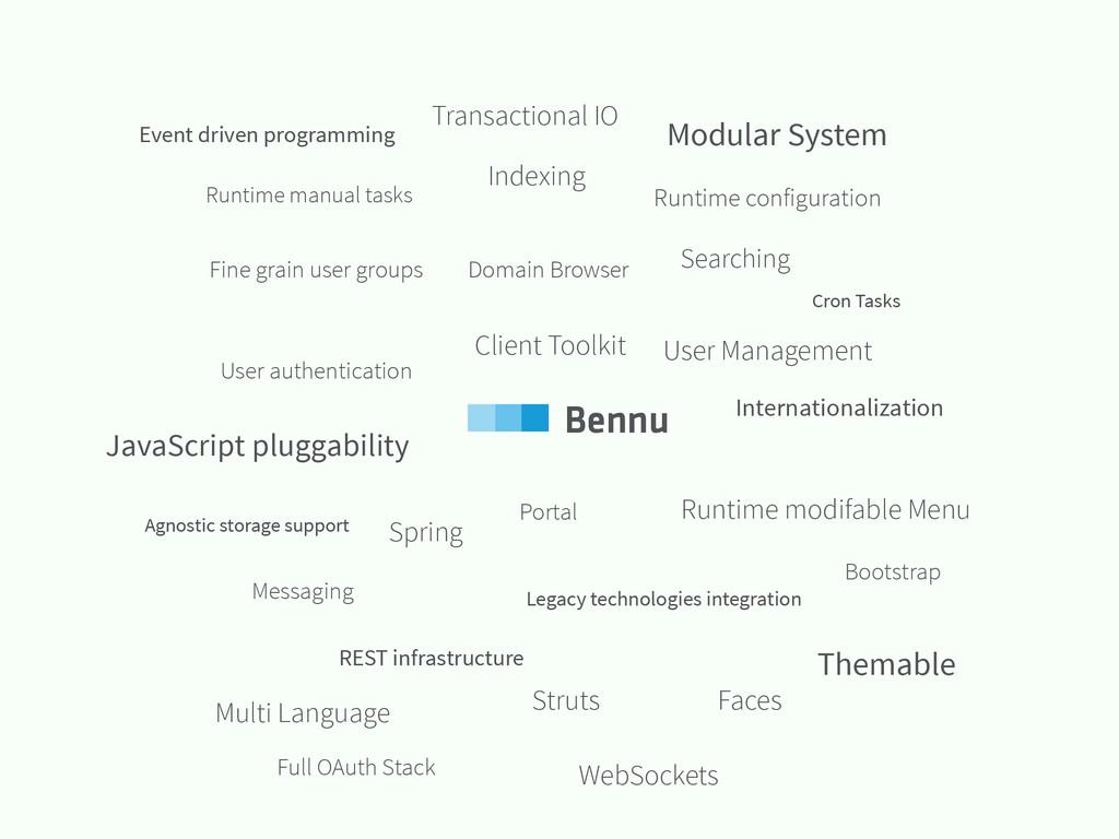 User Management Legacy technologies integration...