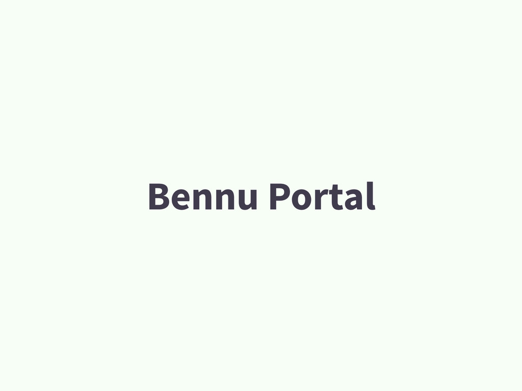 Bennu Portal