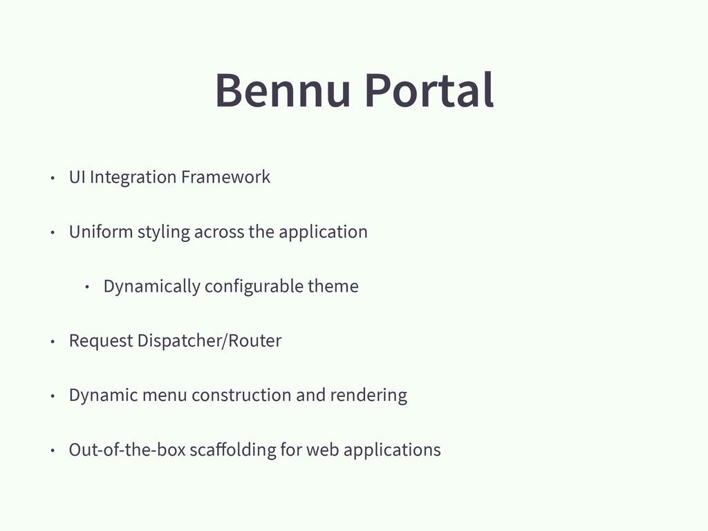 Bennu Portal • UI Integration Framework • Unifo...