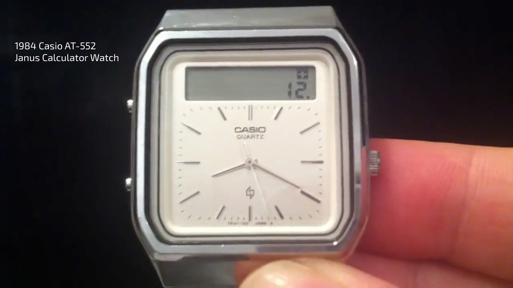 1984 Casio AT-552 Janus Calculator Watch