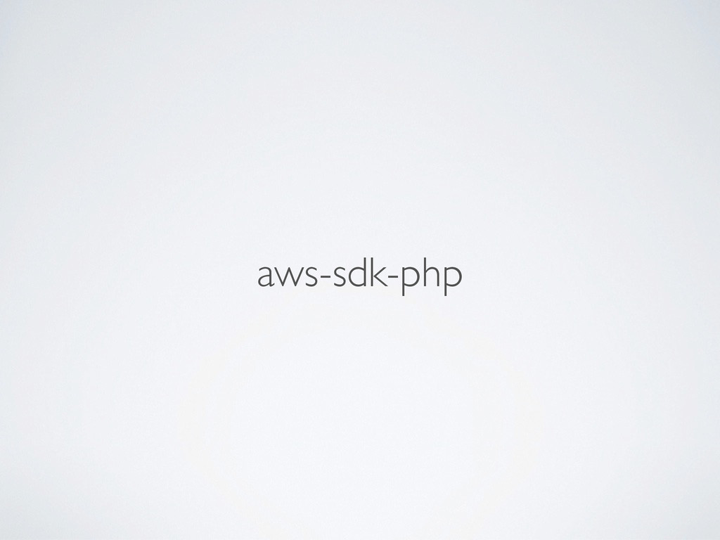 aws-sdk-php