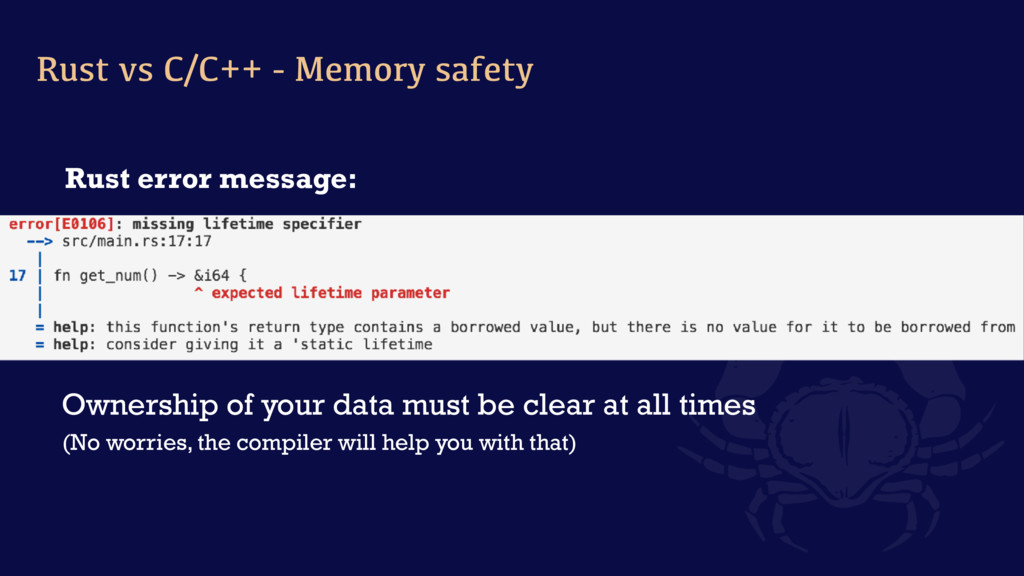 Rust error message: Ownership of your data must...