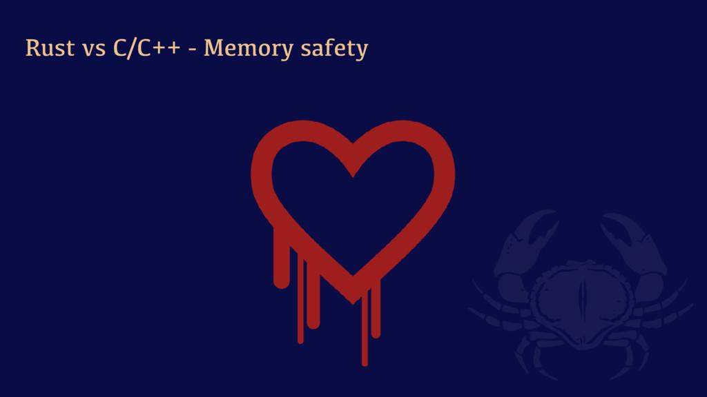 Rust vs C/C++ - Memory safety