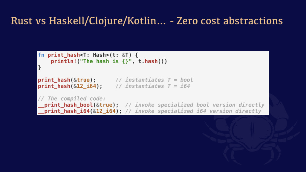 Rust vs Haskell/Clojure/Kotlin… - Zero cost abs...