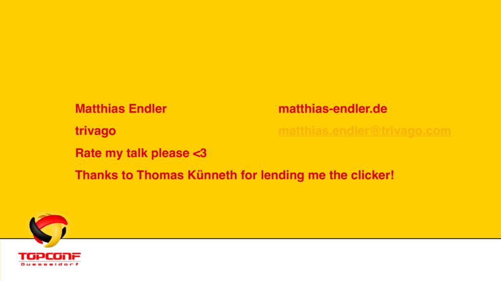 Matthias Endler matthias-endler.de trivago mat...