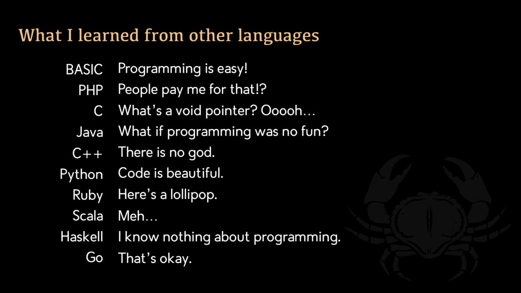 Programming is easy! People pay me for that!? W...