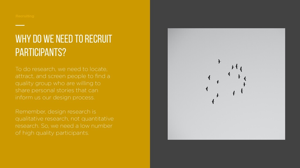 Planning Recruiting — Why do we need to recruit...