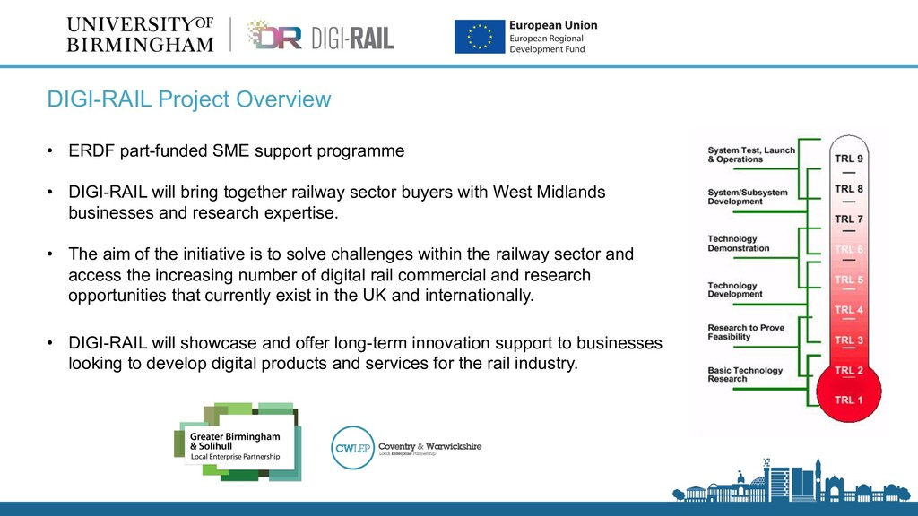 DIGI-RAIL Project Overview • ERDF part-funded S...