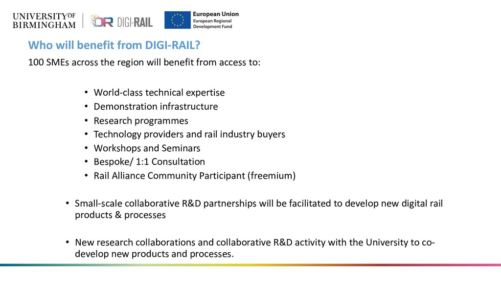 Who will benefit from DIGI-RAIL? 100 SMEs acros...