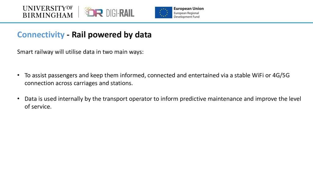 Connectivity - Rail powered by data Smart railw...