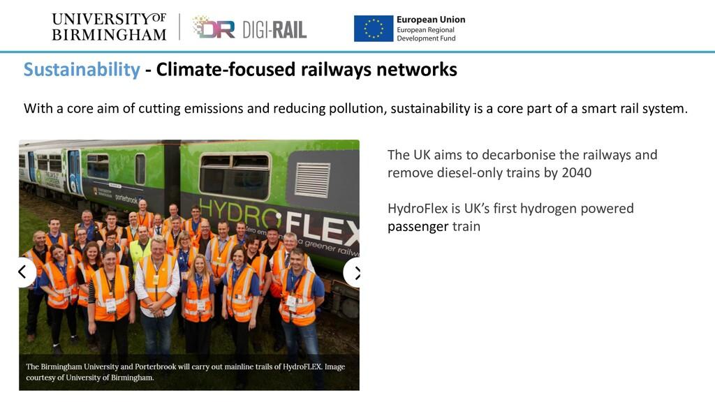 Sustainability - Climate-focused railways netwo...