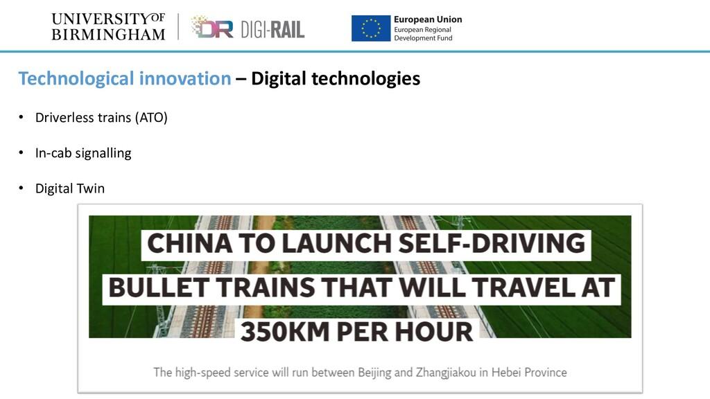 Technological innovation – Digital technologies...