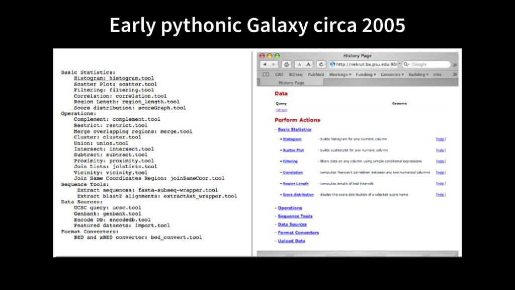 Early pythonic Galaxy circa 2005