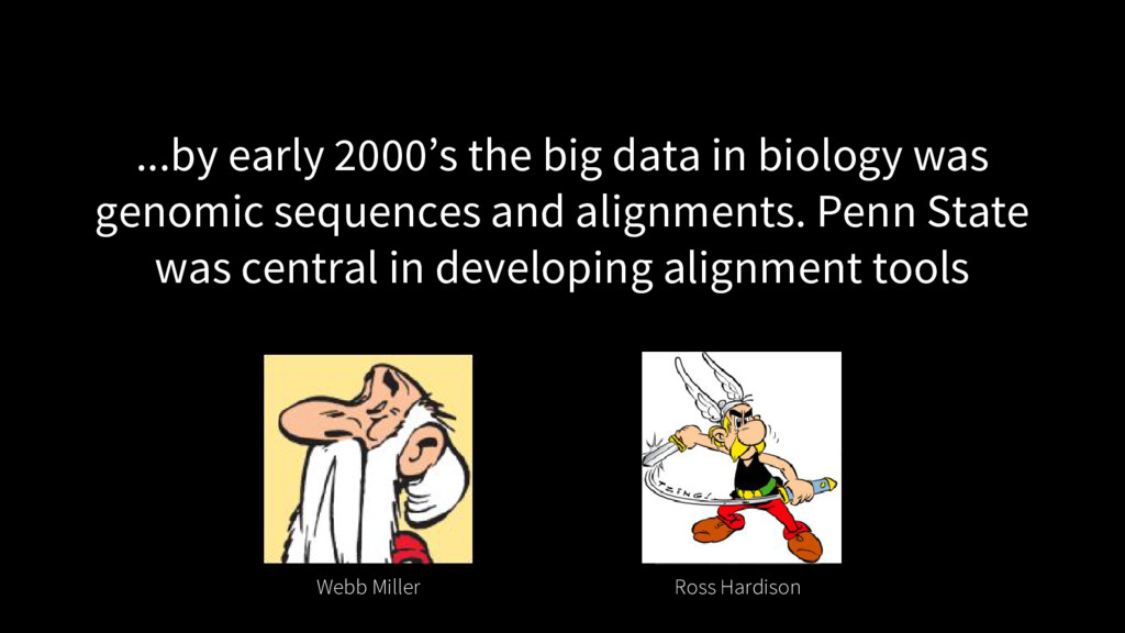 ...by early 2000's the big data in biology was ...