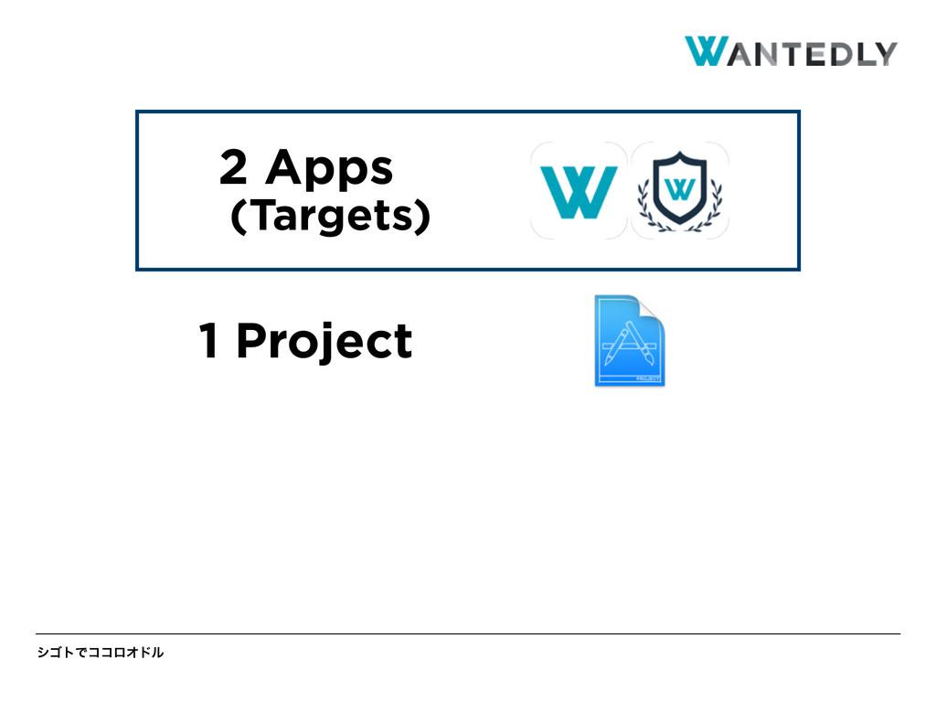 γΰτͰίίϩΦυϧ 2 Apps 1 Project (Targets)