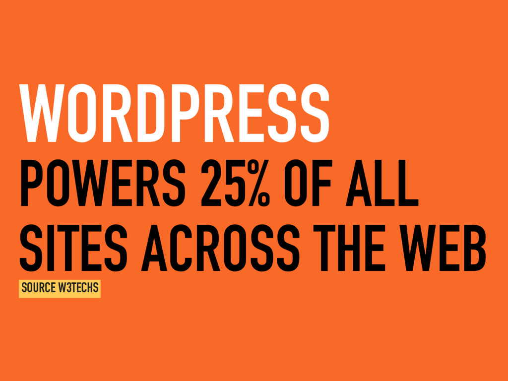 POWERS 25% OF ALL SITES ACROSS THE WEB WORDPRES...