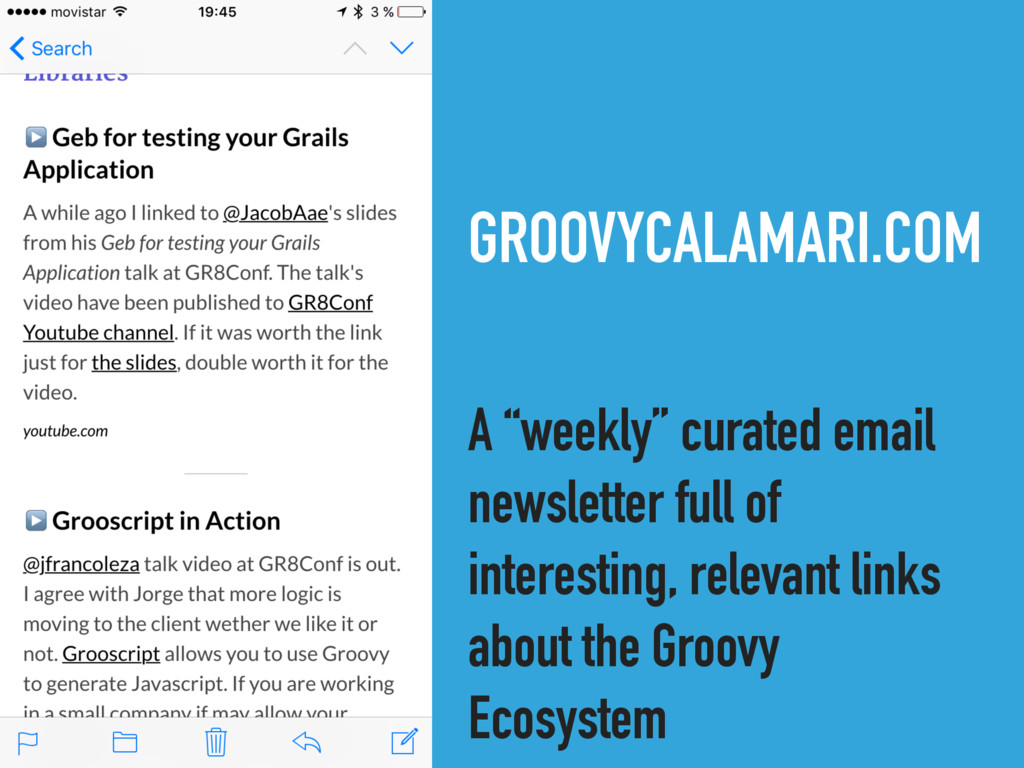 """GROOVYCALAMARI.COM A """"weekly"""" curated email new..."""
