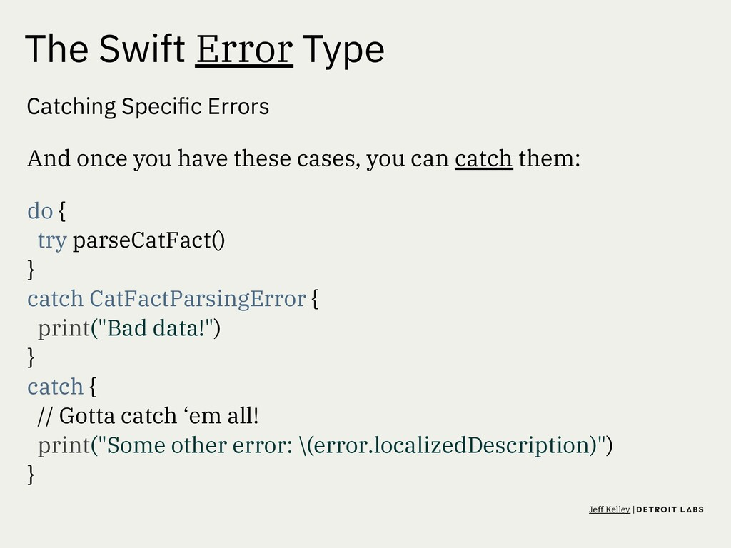 The Swift Error Type Catching Specific Errors An...
