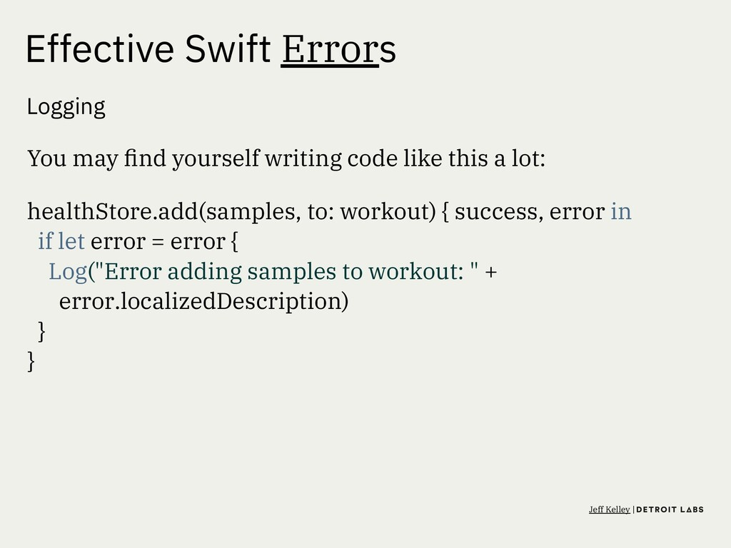Effective Swift Errors Logging You may find your...