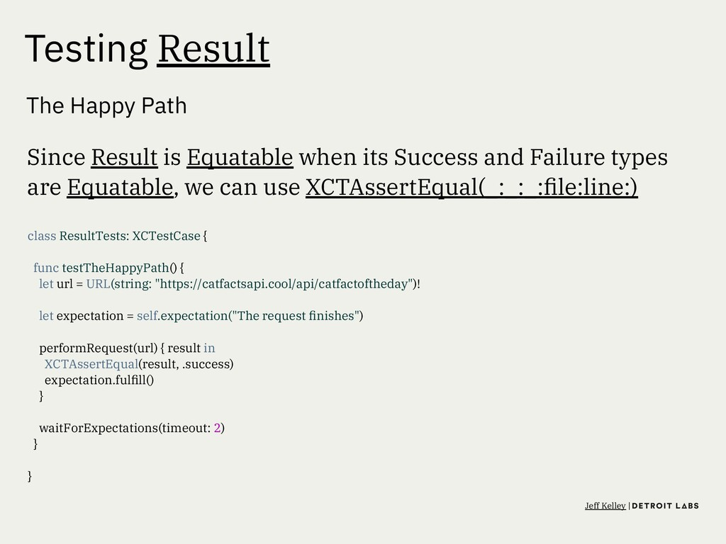 Testing Result The Happy Path Since Result is E...