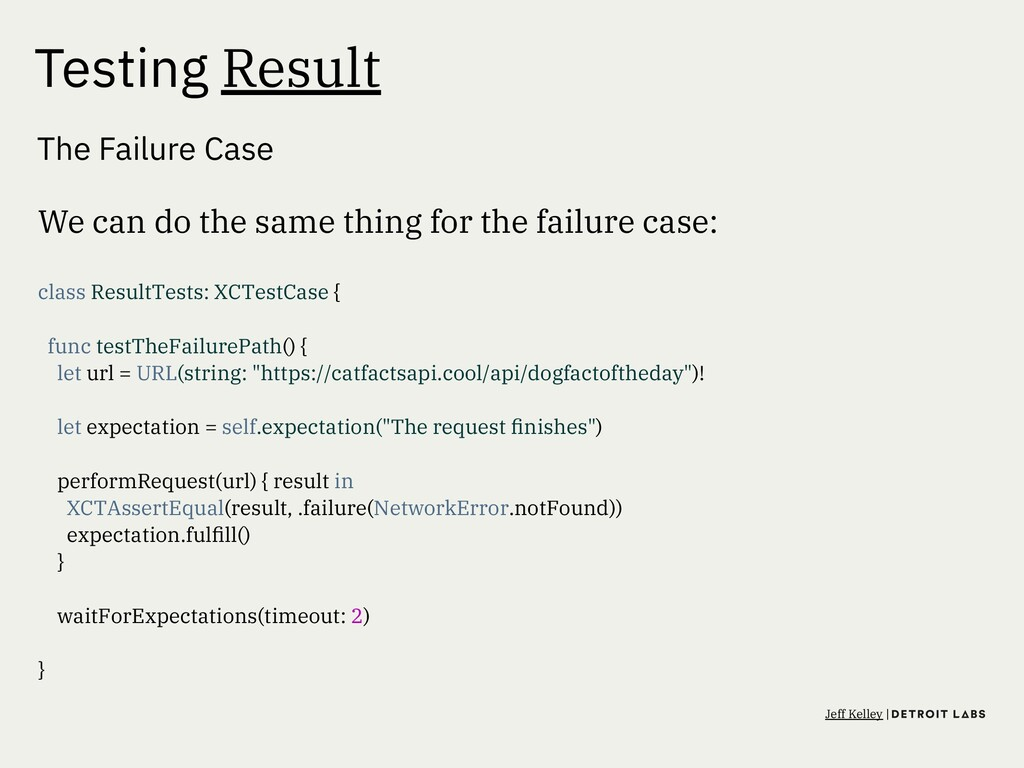 Testing Result The Failure Case We can do the s...