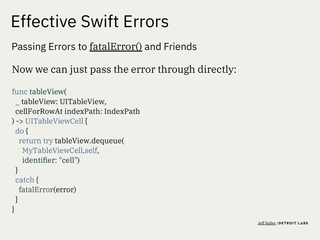 Effective Swift Errors Passing Errors to fatalE...