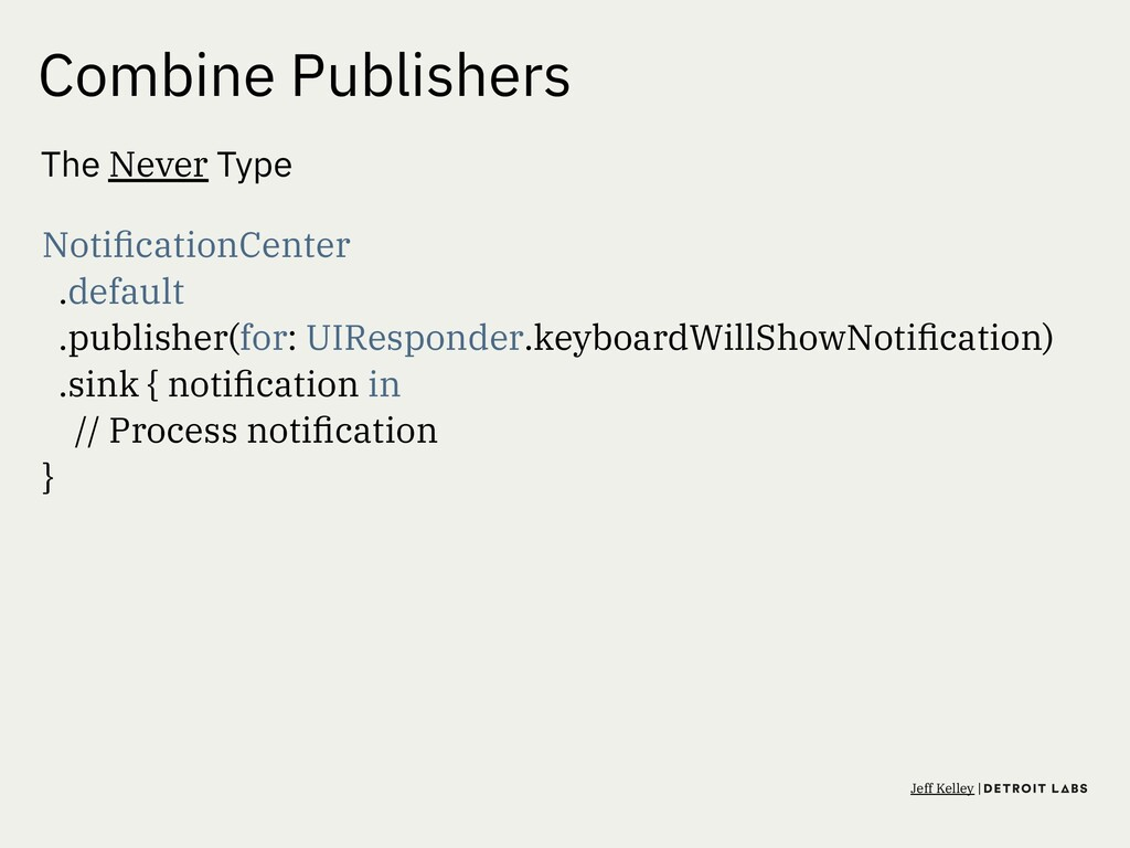 Combine Publishers The Never Type NotificationCe...