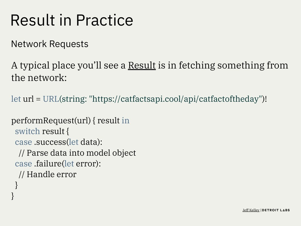 Result in Practice Network Requests A typical p...