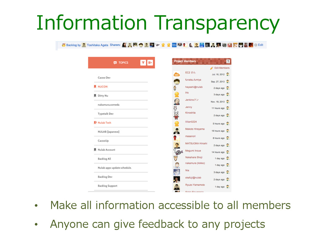 Information  Transparency •  Make  all  informa...