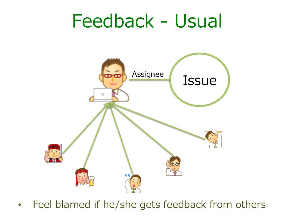 Issue Assignee Feedback -‐‑‒ Usual • Feel b...