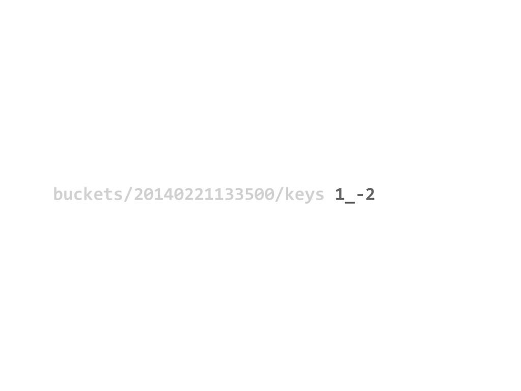 buckets/20140221133500/keys           ...