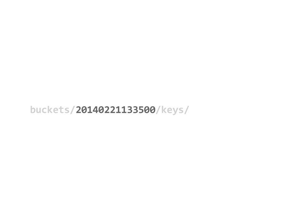 buckets/20140221133500/keys/         20...