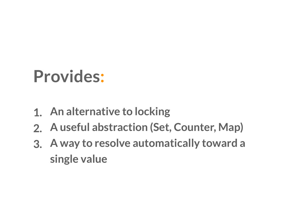 1. An alternative to locking 2. A useful abstra...