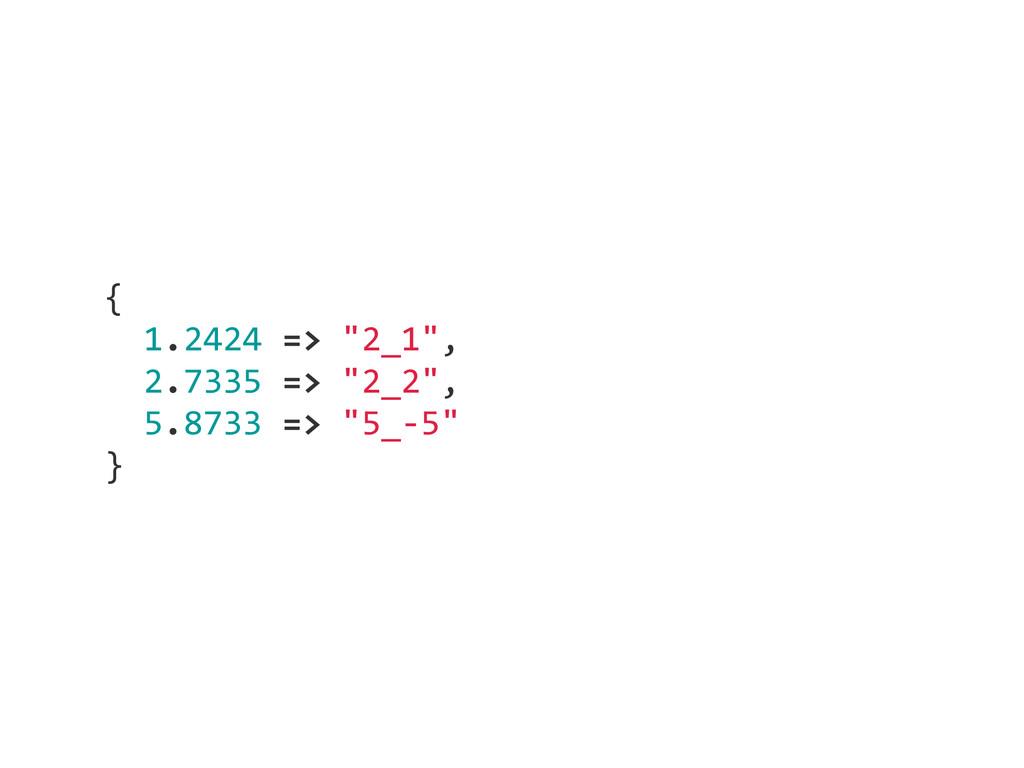 "{    1.2424 => ""2_1"",    2.7335 => ""2..."