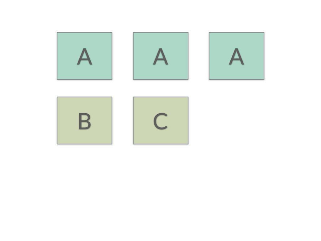 A A A B C