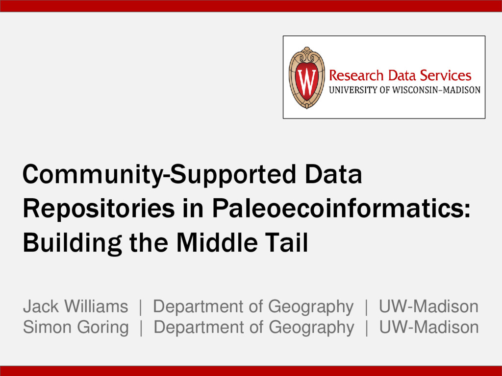 Community-Supported Data Repositories in Paleoe...