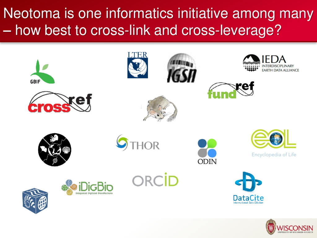 Neotoma is one informatics initiative among man...