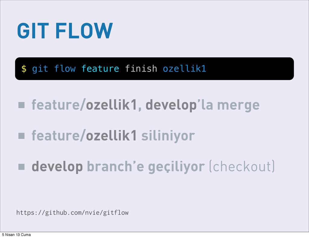 GIT FLOW https://github.com/nvie/gitflow $ git ...