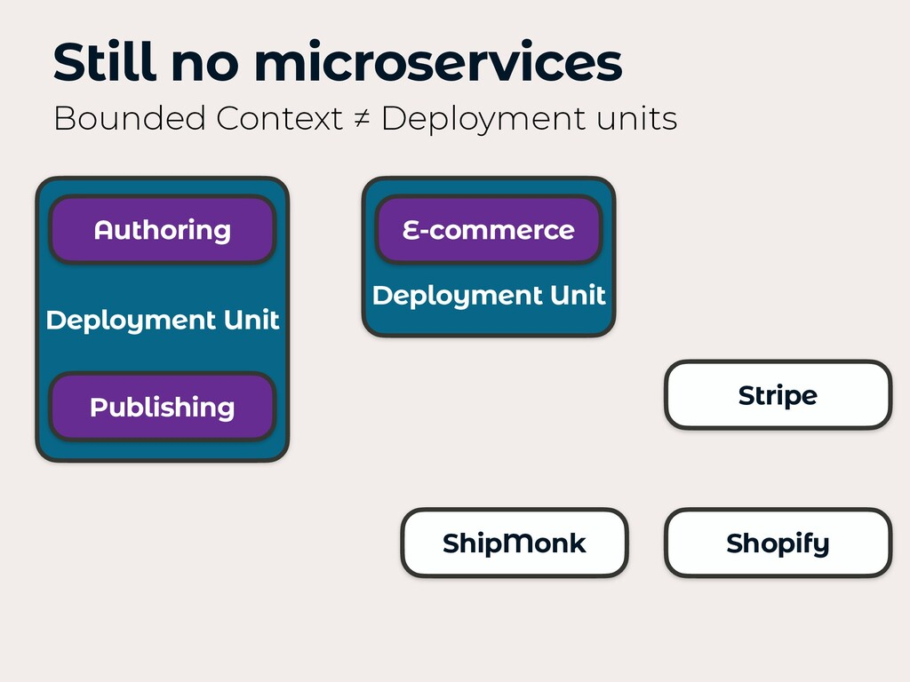 Deployment Unit Stripe Still no microservices B...