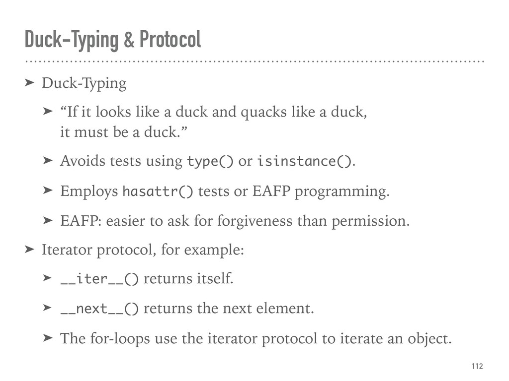 "Duck-Typing & Protocol ➤ Duck-Typing ➤ ""If it l..."