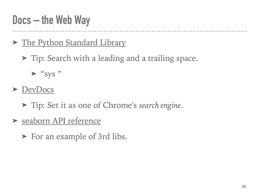 Docs – the Web Way ➤ The Python Standard Librar...