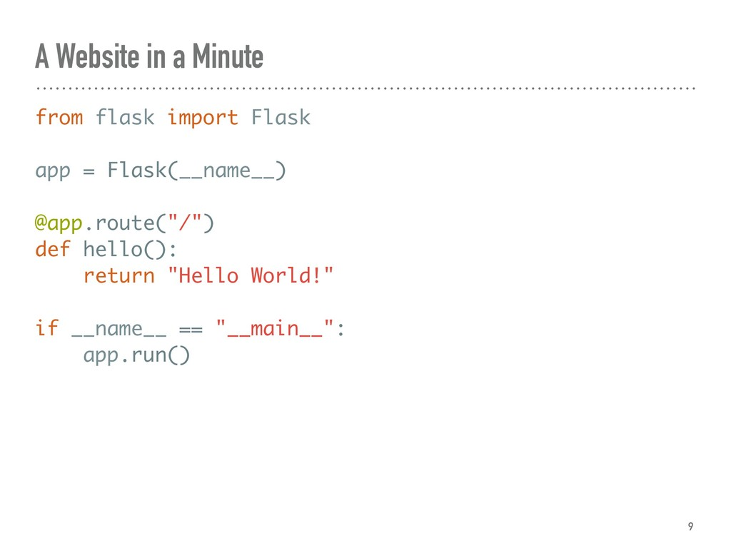 A Website in a Minute from flask import Flask a...