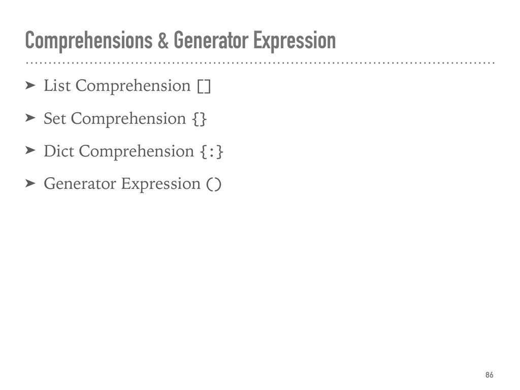 Comprehensions & Generator Expression ➤ List Co...