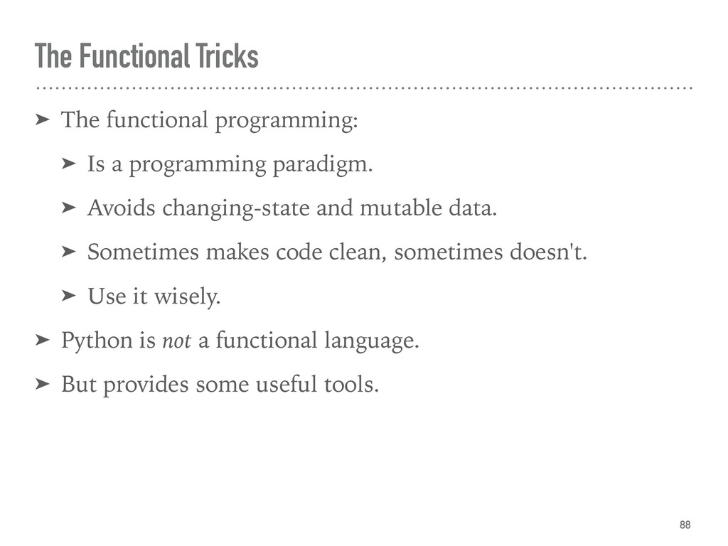 The Functional Tricks ➤ The functional programm...