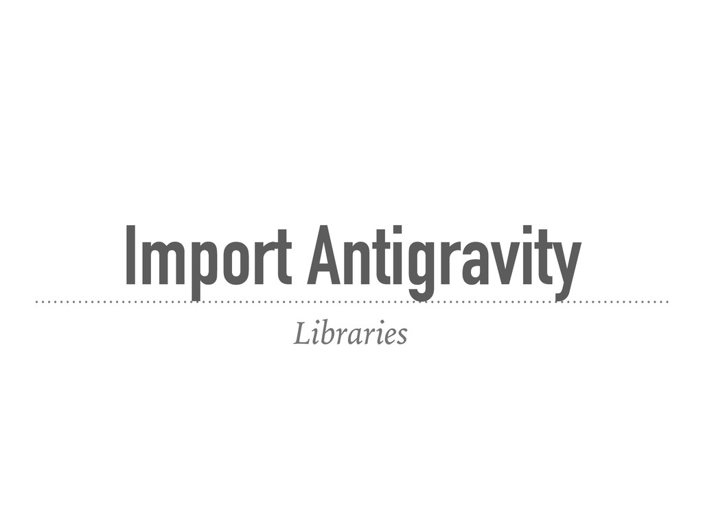 Import Antigravity Libraries